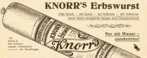 Wie bei Oma und Opa: Erbswurst von Knorr