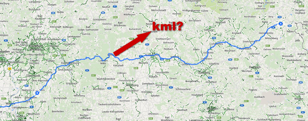 Google Maps Route für GPS-Gerät exportieren
