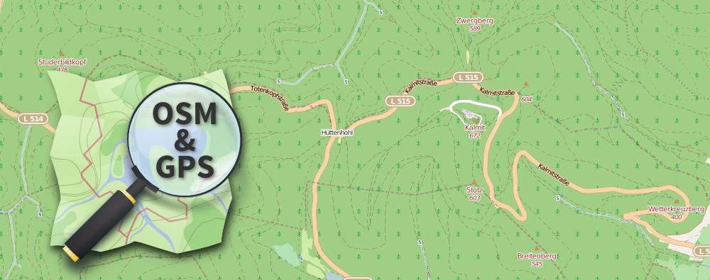 Verwendung der kostenlosen OpenStreetMap auf dem GPS-Gerät