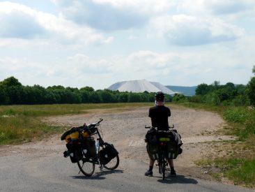 Die Räder vor dem Monte Kali