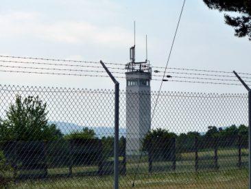 Wachturm der DDR-Grenzturm bei Point Alpha