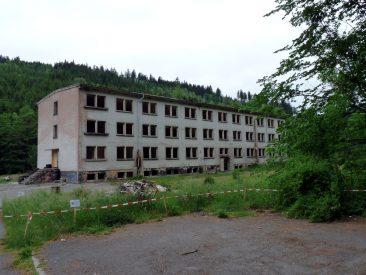 Ruine einer DDR-Grenzkaserne