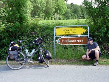 Kurz vor dem Dreiländereck nahe Prex