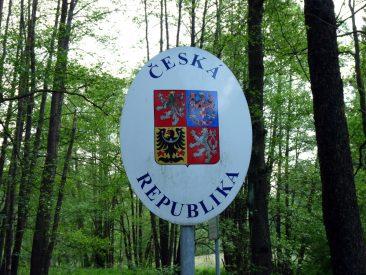Grenzschild der Tschechischen Republik