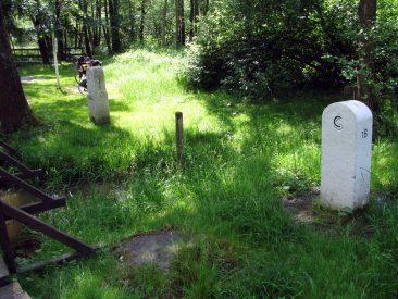 Grenzsteine zwischen Deutschland und Tschechien
