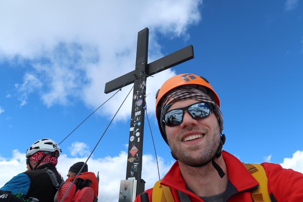 Selfie auf dem Gipfel des Wilden Freiger.