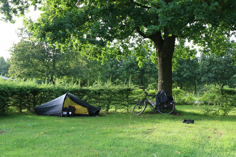 Mein erstes Camp der Tour im ehemaligen Kriegsgefangenenlager Froeslevlejren.