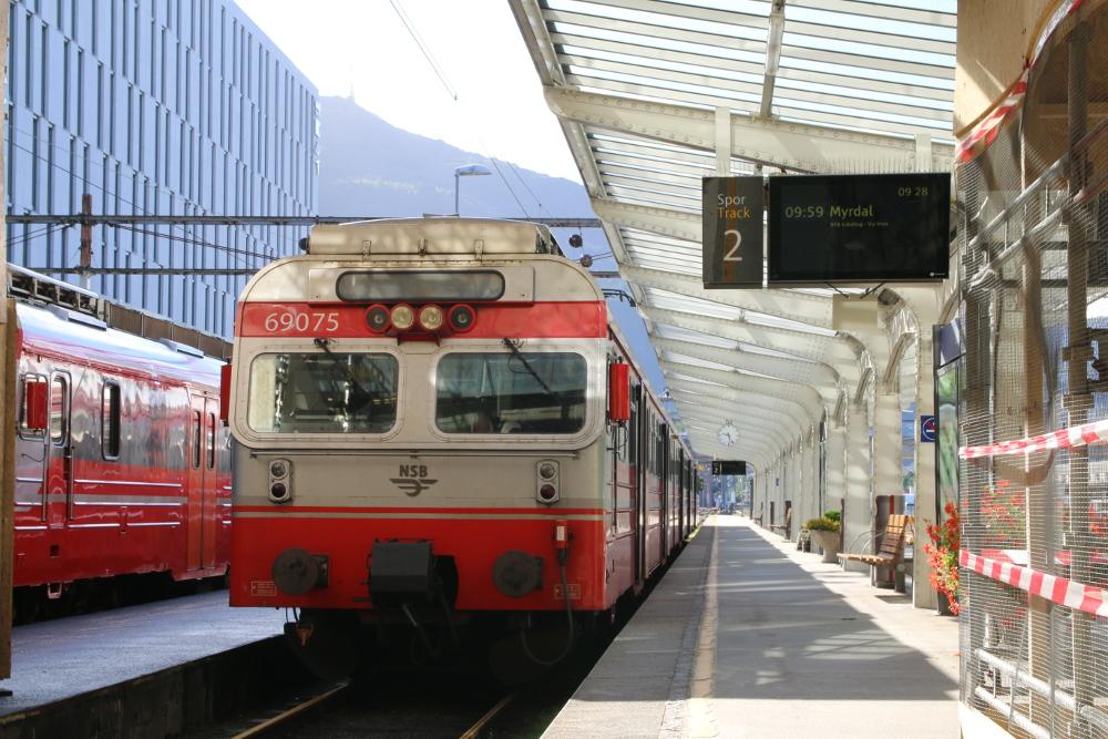 Der Zug nach Myrdal bringt mich bis nach Dale.