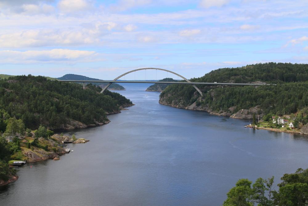 Die neue Svinesundbrücke.