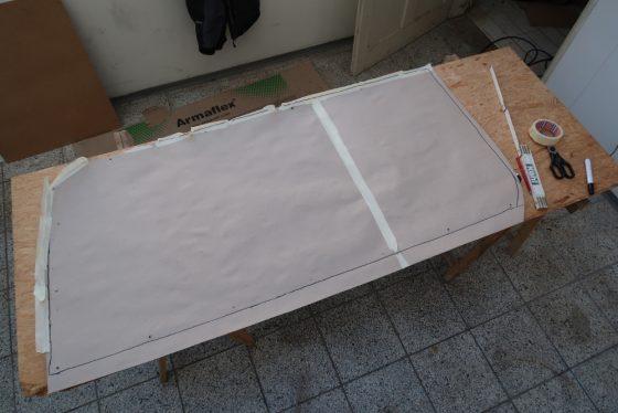 Grob zugeschnittene Schablone