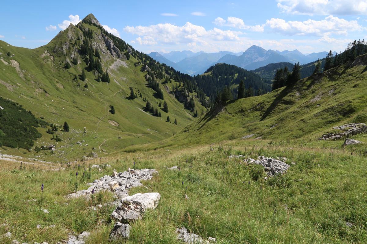 Ab jetzt: Bergwandern bis zum Gimpelhaus.