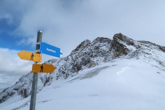 Der Gipfel ist quasi nicht zu verfehlen.