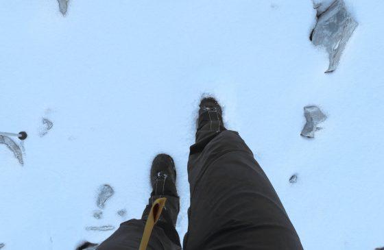 Die ersten Spuren in den Neuschnee zu legen ist einfach wunderbar.