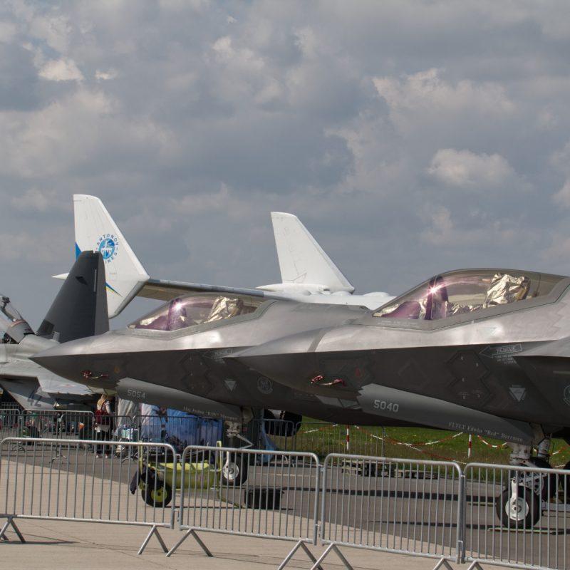 Das erste Mal in Übersee zu sehen: Zwei F-35A im static display