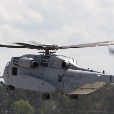 Die Sikorsky CH-53K ist brandneu und das erste Mal auf einer Flugshow zu sehen