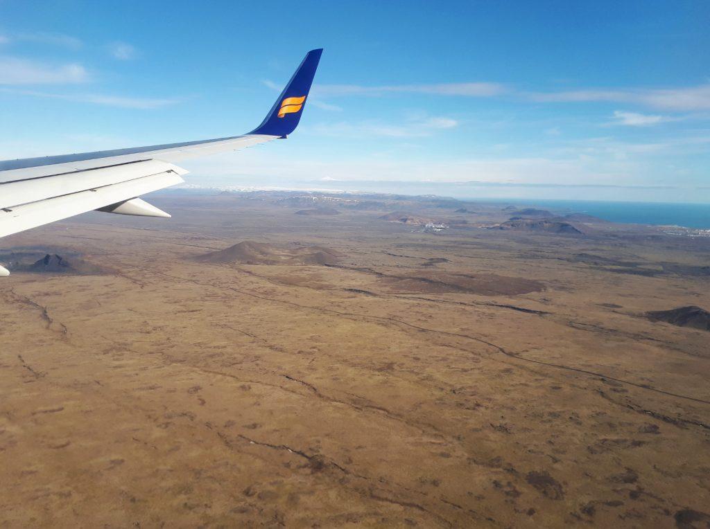 Mit Icelandair im Anflug auf Keflavik