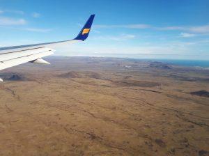 Mit Icelandair im Anflug auf KEF.