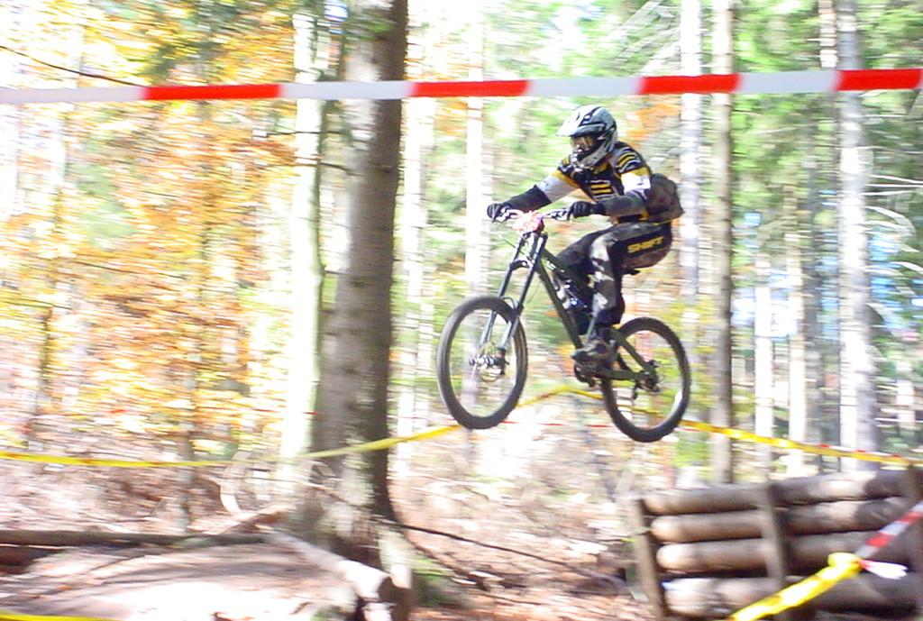 In den wilden Zeiten unterwegs mit der Rohloff im Bikepark Bad Wildbad (2005)