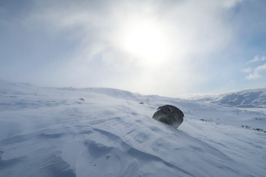 Der Wind bläst fast immer auf der Hardangervidda
