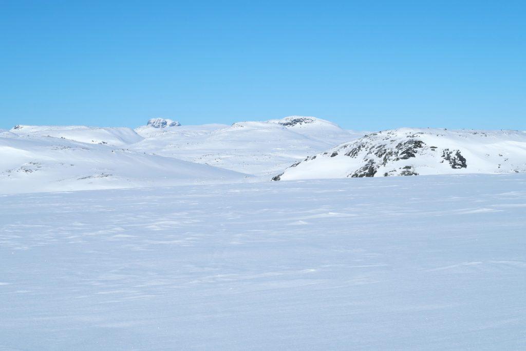 Der Hårteigen kommt erstmals auf meiner Wintertour in Sicht