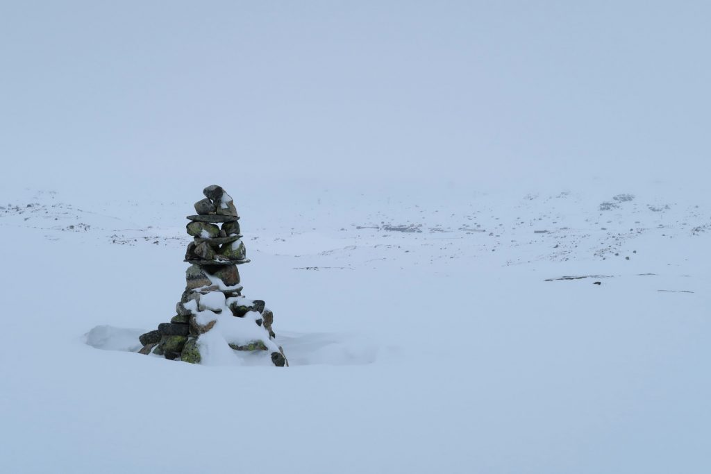 Zum ersten Mal kommt mein Zielort Finse in Sicht