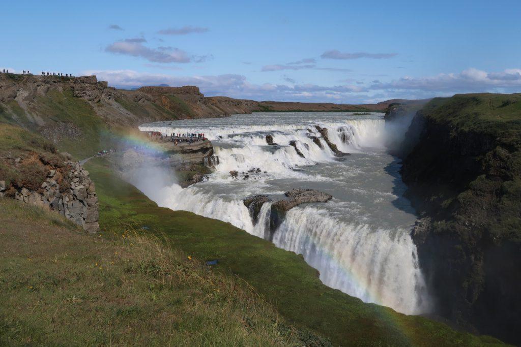 Der große Wasserfall Gulfoss