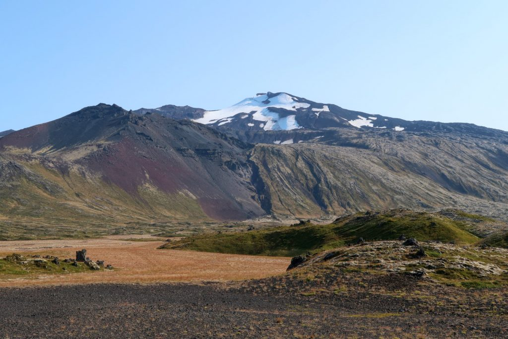 Die Nordseite des Gletschers Snæfellsjökull